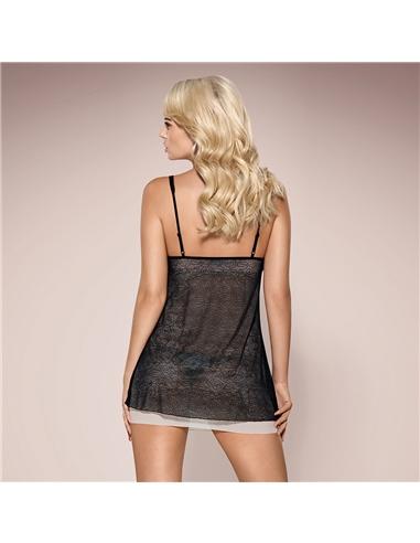 Camisa De Noite E Tanga 811-Bab Obsessive Preta - 40-42 L/XL - PR2010346219