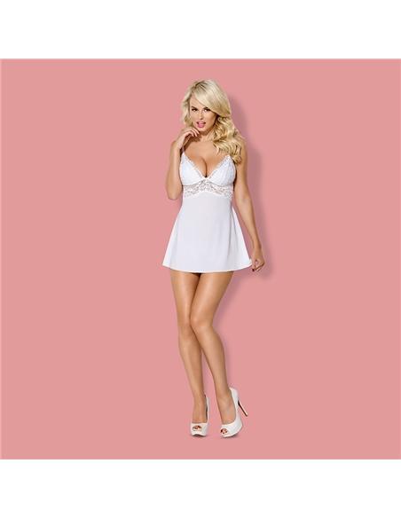 Camisa De Noite E Tanga 810-Bab Obsessive Branca - 40-42 L/XL - PR2010346162