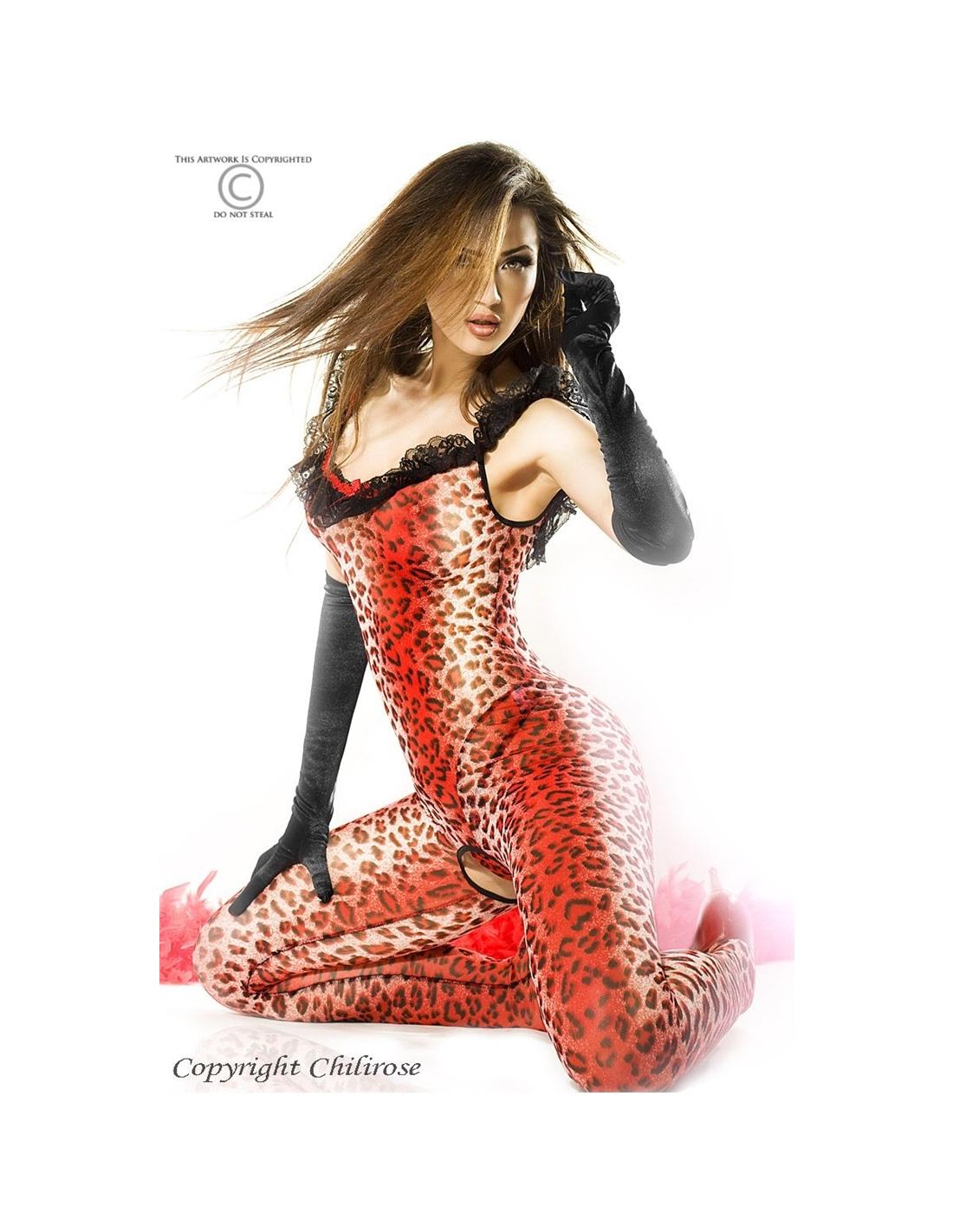 Catsuit E Tanga Cr-3334 Vermelho - 36-38 S/M - PR2010318493