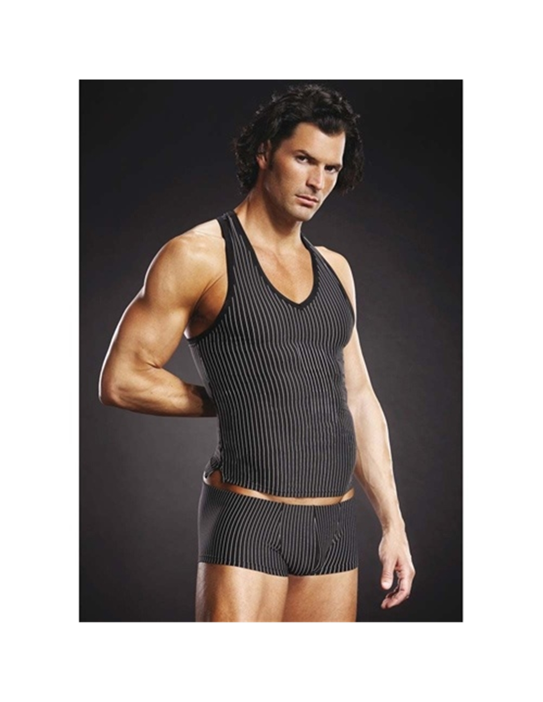 T-Shirt Com Costas Nadador Blueline Riscas - 36-38 S/M - PR2010319437