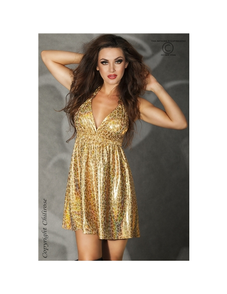 Mini-Vestido Cr-3415 Dourado - 36-38 S/M - PR2010319894