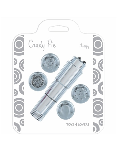 Vibrador Candy Pie Sweepy Prateado - PR2010322202