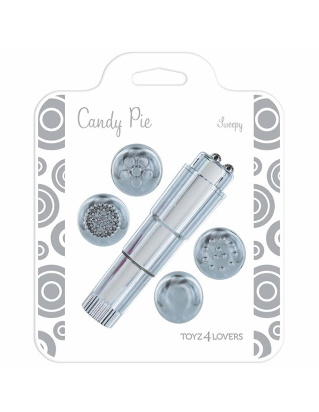 Vibrador Candy Pie Sweepy Prateado - PR2010322202