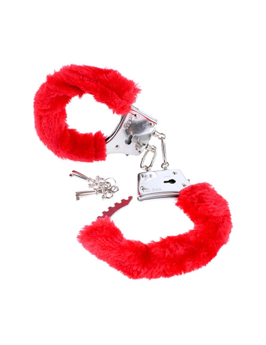 Algemas Beginners Furry Cuffs Fetish Vermelho - PR2010311833