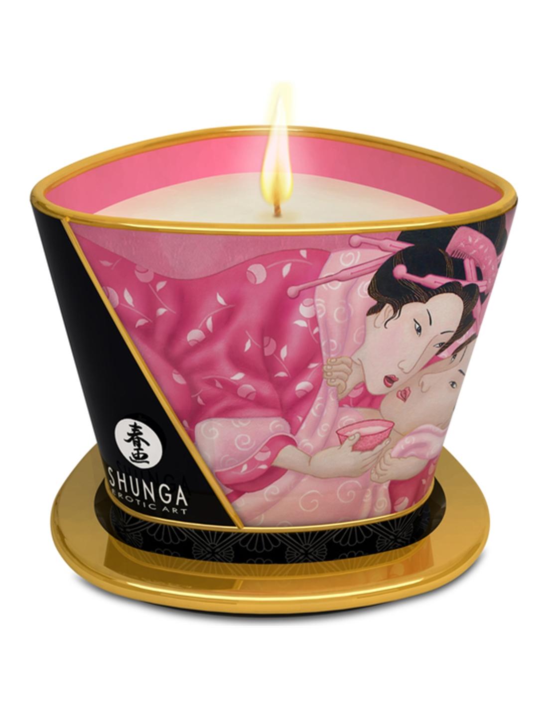 Vela De Massagem Shunga Aphrodisia Pétalas De Rosa - 170ml - PR2010300304