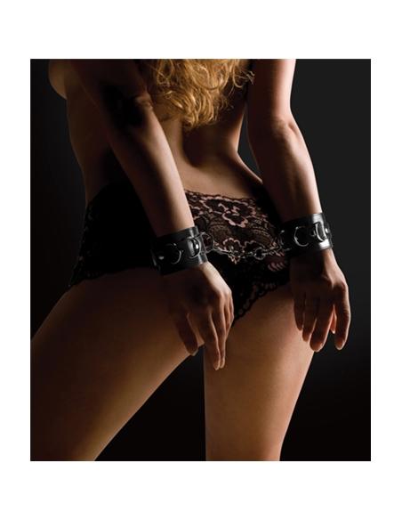 Algemas Ouch! Leather Handcuffs Pretas - PR2010320469