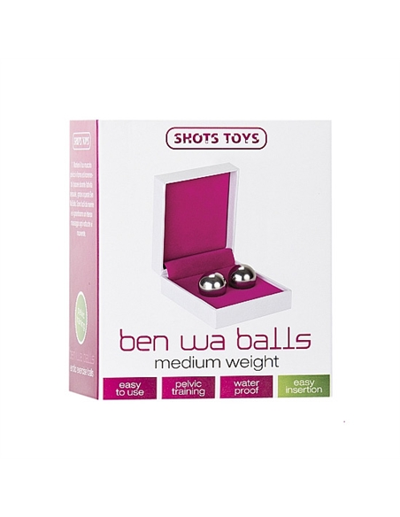 Bolas Vaginais Ben Wa Balls Medium Weight Prateadas - PR2010311628
