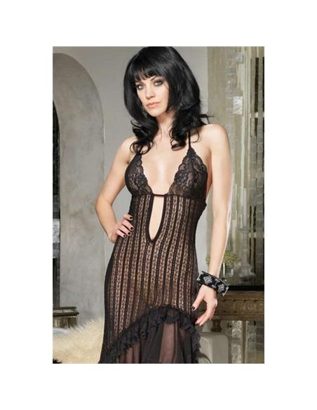 Vestido Longo De Malha Translúcida Com Detalhes D - T. ÚNICO - PR2010316358
