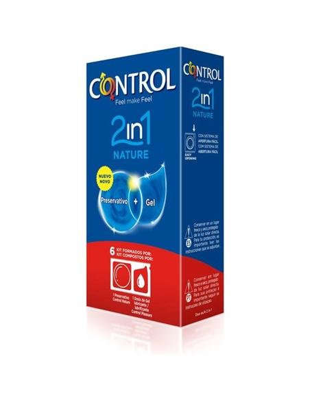 Preservativos Control 2In1 Nature + Lube Nature 6 Unidades - PR2010347685