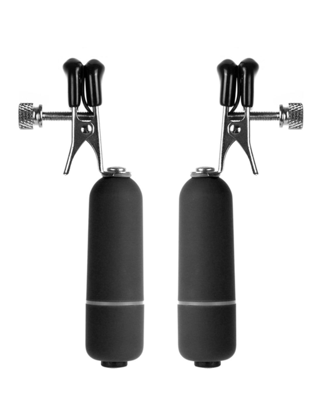 11462 - Pinças Vibratórias Para Os Mamilos Vibrating Nipple Clamps - Preto-PR2010313585