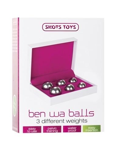 Conjunto De 3 Bolas Vaginais Ben Wa Balls Prateadas - Prateado - PR2010311623