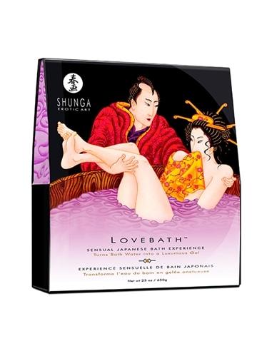 Sais de Banho Shunga Love Bath Sensual Lotus 650Gr - Roxo - PR2010313042