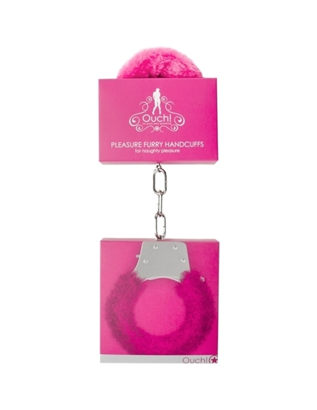 Algemas com Peluche Pleasure Furry Handcuffs Rosa #4 - PR2010316964