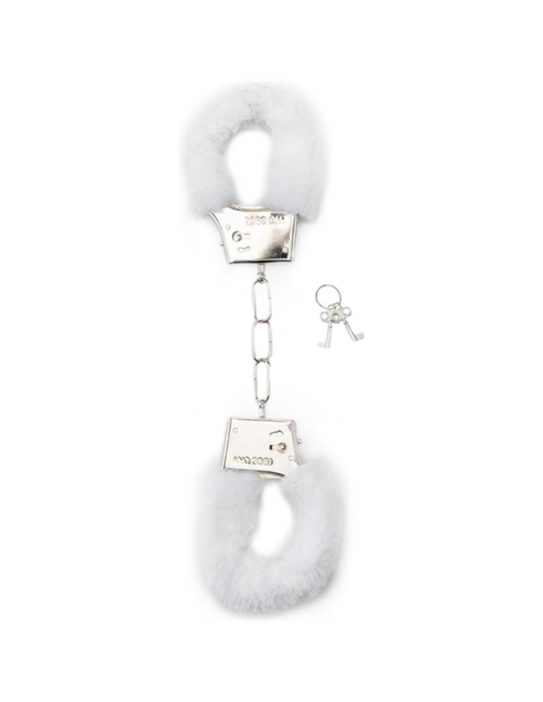 Algemas com Peluche Furry Handcuffs Brancas - Branco - PR2010328659