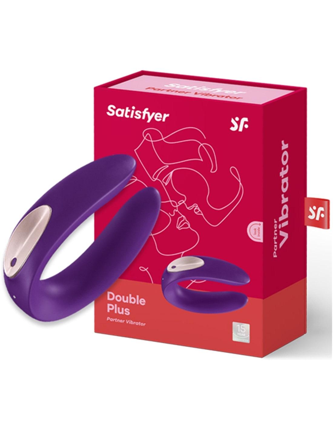 Vibrador para Casal Partner Plus com Carregador Usb - Roxo - PR2010343108