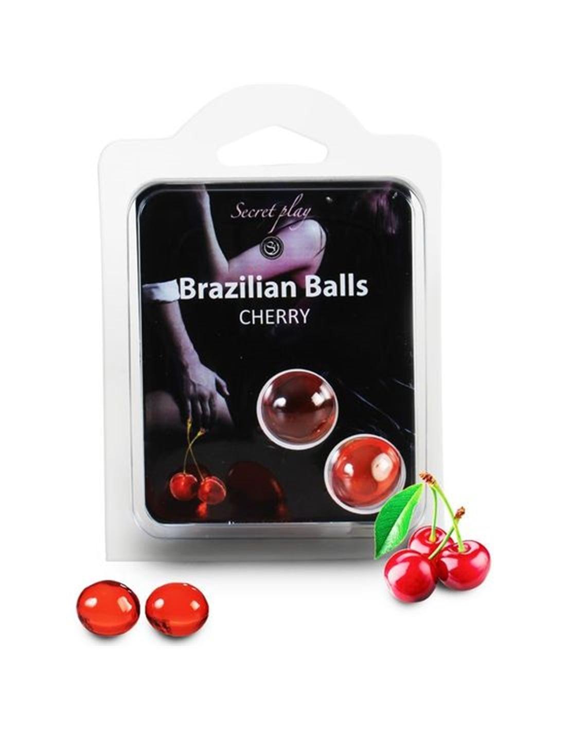 Bolas Lubrificantes Beijáveis Brazilian Balls Sabor a Cereja 2 X 4Gr - PR2010314261