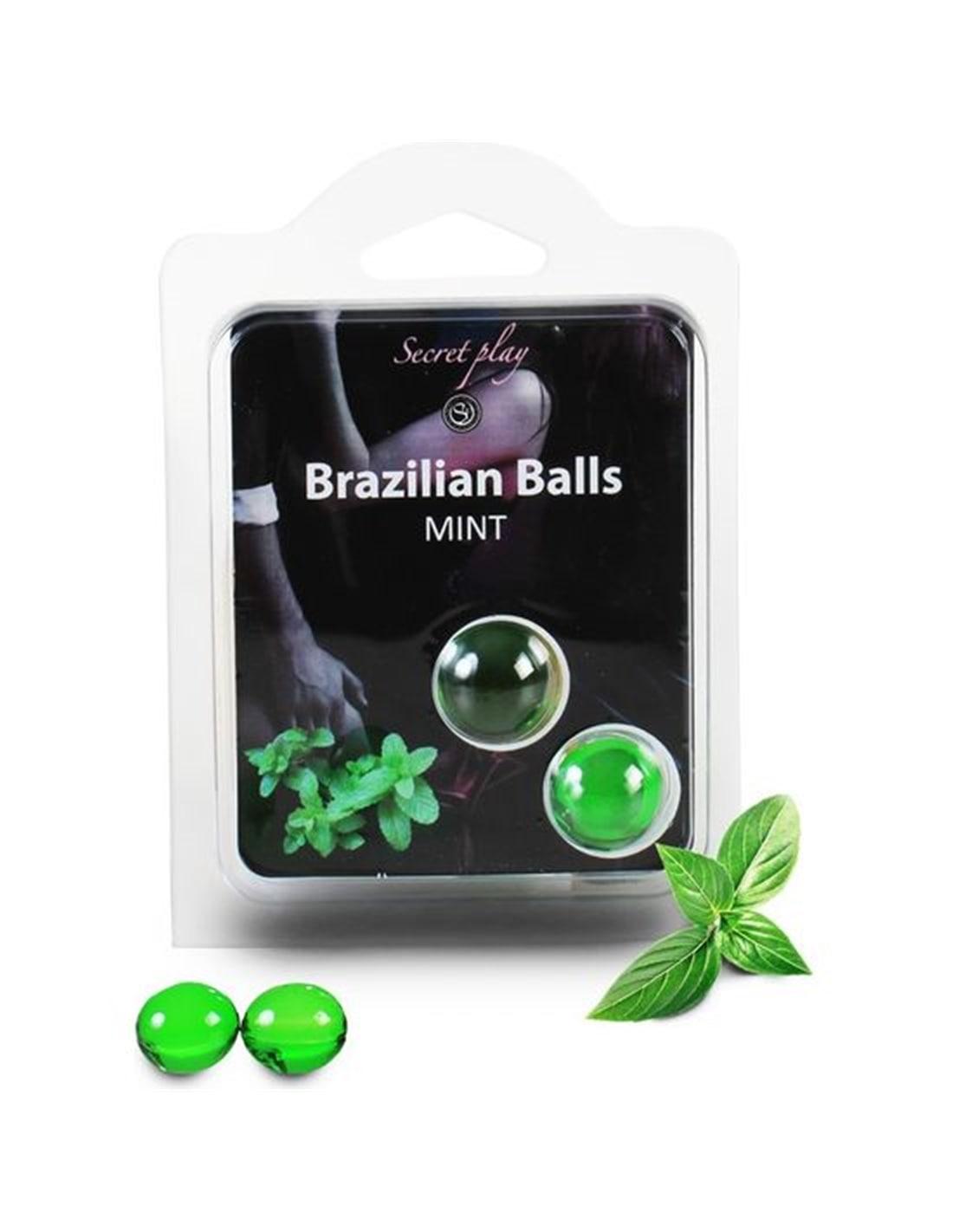Bolas Lubrificantes Beijáveis Brazilian Balls Sabor a Menta 2 X 4Gr - PR2010314265